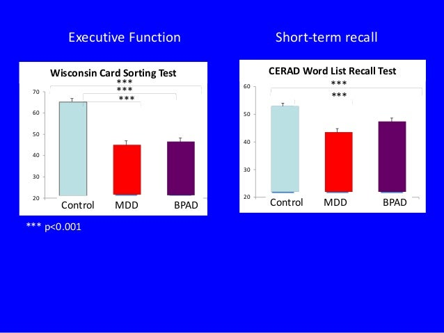 Investigation of Cognitive Function in Geriatric Mood Disorder