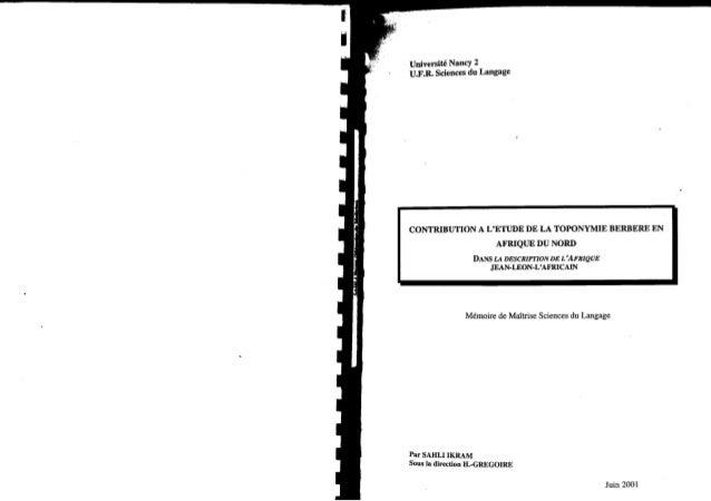 contribution-a-l-etude-de-la-toponymie-berbere-en-afrique-du-nord-memoire-de-maitrise-ikram-sahli
