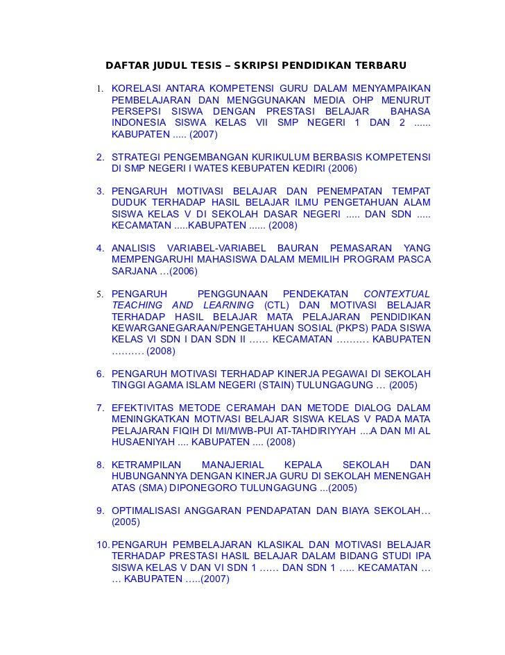 Contoh Tesis Kuantitatif Bahasa Indonesia Contoh Soal Dan Materi Pelajaran 7