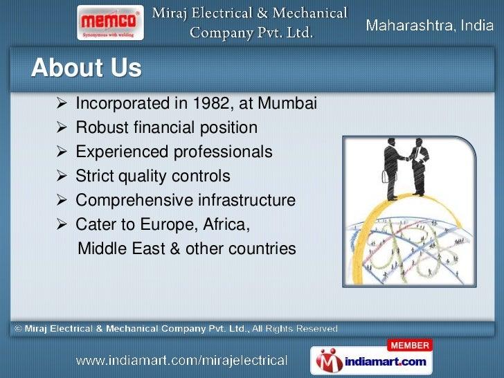 Miraj Electrical and Mechanical Company Maharashtra India Slide 2