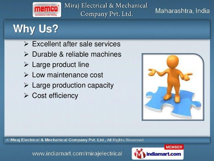 Miraj Electrical and Mechanical Company Maharashtra India Slide 3