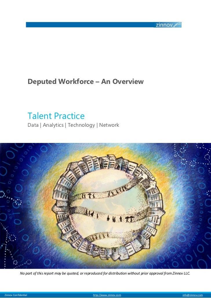 Deputed Workforce – An Overview                         Talent Practice                         Data | Analytics | Technol...