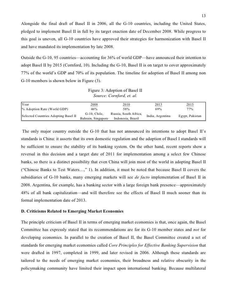 basel accord case Overview of basel accord the basel accord refer to the banking supervision accords, it is agreed by the basel committee on banking supervision (bcbs) in 1988 the committee was established in a cologne -based bank basel accord case research paper.