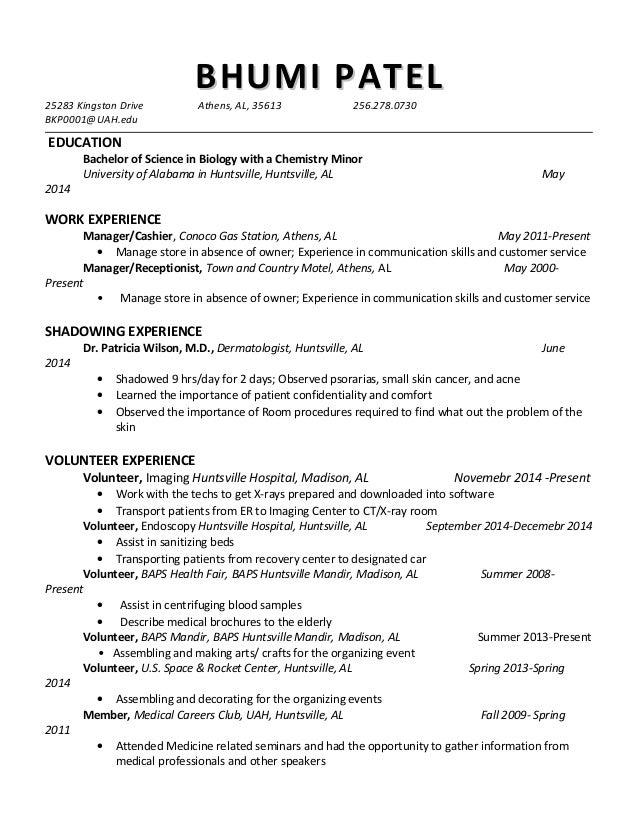bkp resume