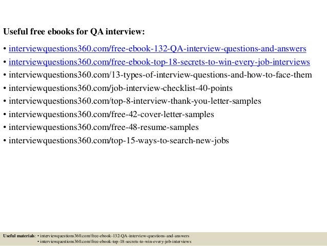 Qa manual tester ebook array 132 qa interview questions and answers pdf rh slideshare net fandeluxe Gallery