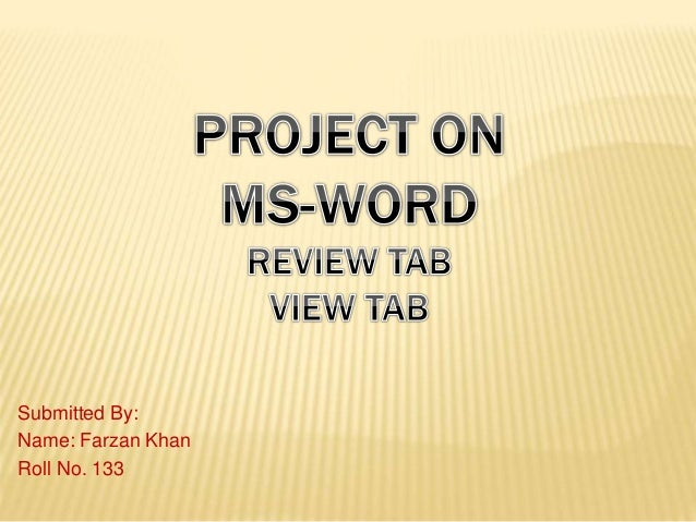ms word review view tab