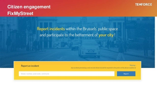 Citizen engagement FixMyStreet