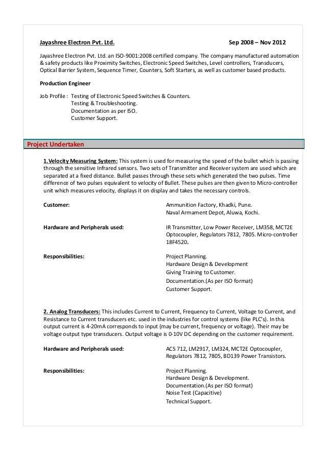 Pramod J Resume M Sc Electronics 3 5 Year Exprience In