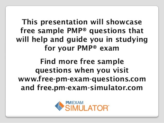 Free Sample Study Set: PMP Sample Questions Set 5
