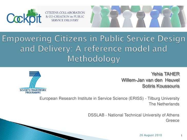 Empowering Citizens in Public Service Design and Delivery: A reference model and Methodology
