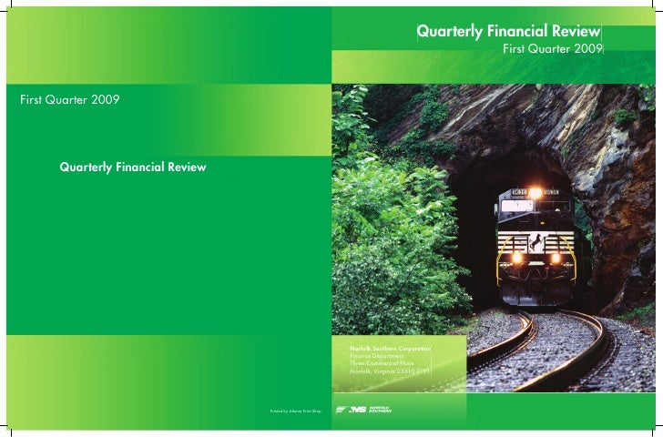 Quarterly Financial Review                                    First Quarter 2009     Norfolk Southern Corporation Finance ...