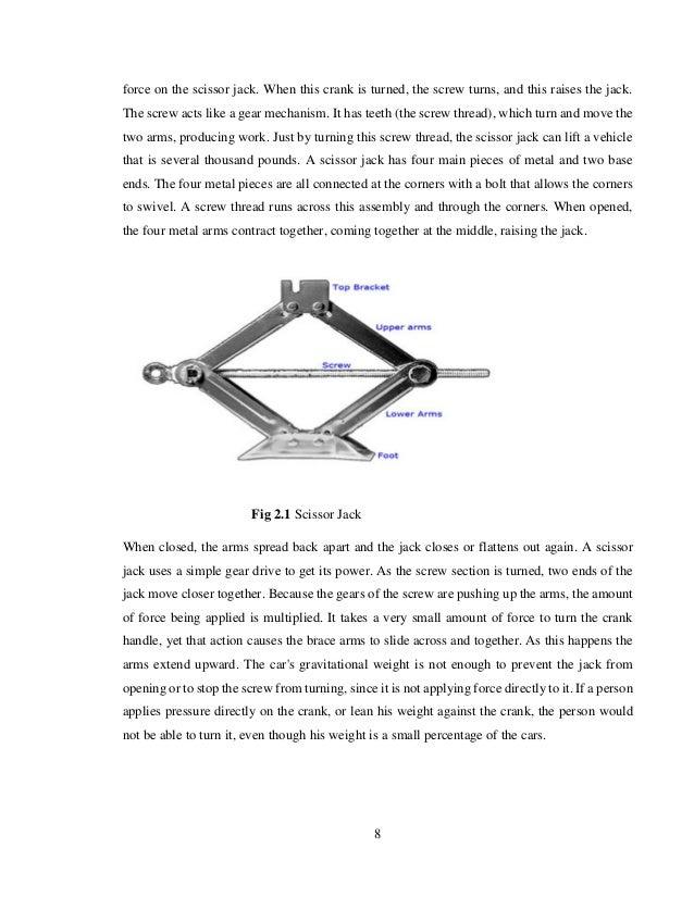 Design And Fabrication Of A Power Scissor Jack