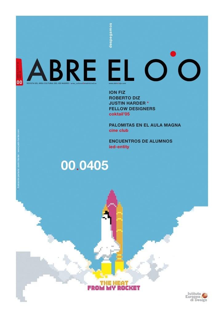despegamos ABRE EL OJO Nº 00 ABRIL 05     00                                                             REVISTA DEL ÁREA ...