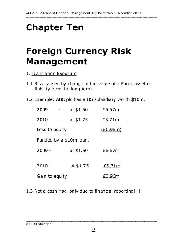 Acca p4 forex