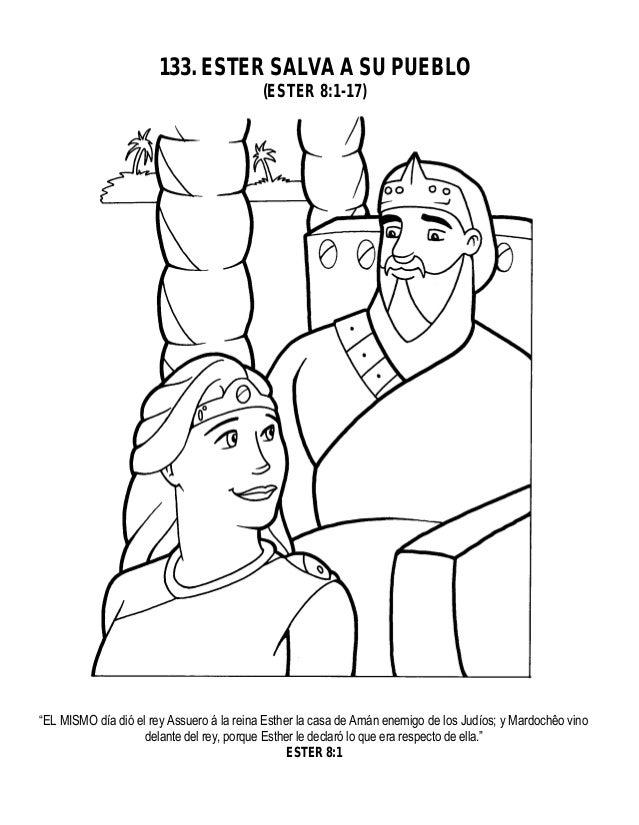 Dorable La Historia De La Biblia Esther Para Colorear