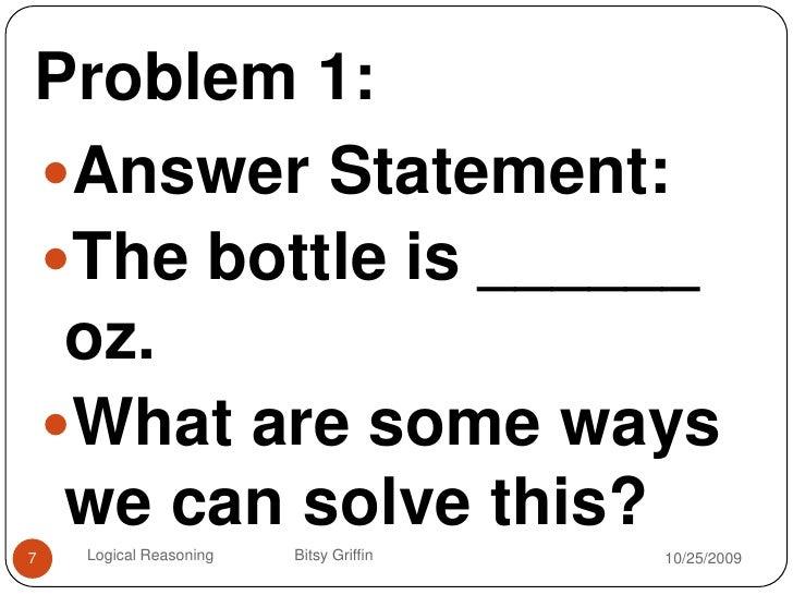 1 33 Problem Solving Logical Reasoning