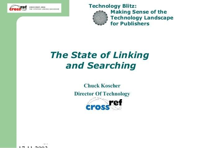 Technology Blitz:                               Making Sense of the                               Technology Landscape    ...