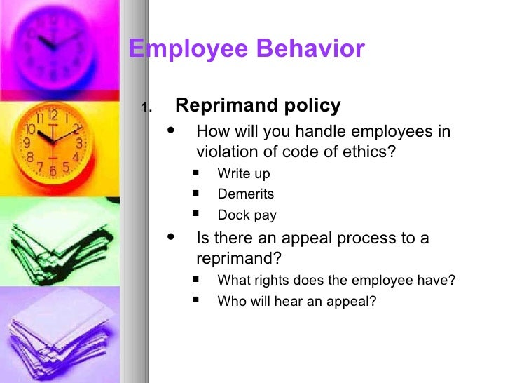 employee write up policy