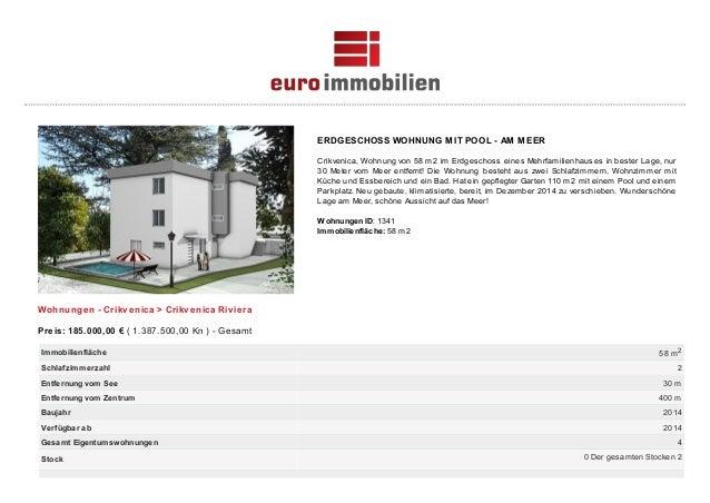 ERDGESCHOSS WOHNUNG MIT POOL - AM MEER Crikvenica, Wohnung von 58 m2 im Erdgeschoss eines Mehrfamilienhauses in bester Lag...