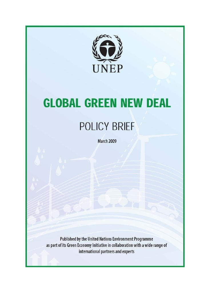 This Policy Brief was prepared by the United Nations Environment Programme. It benefited     from views and comm...