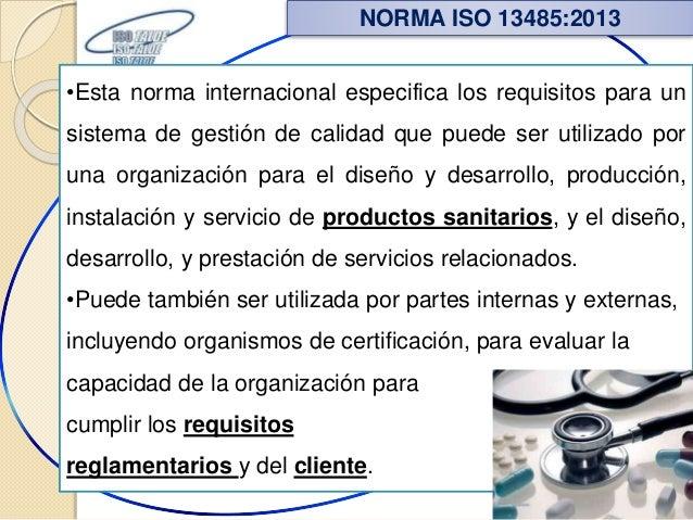 •Esta norma internacional especifica los requisitos para un sistema de gestión de calidad que puede ser utilizado por una ...