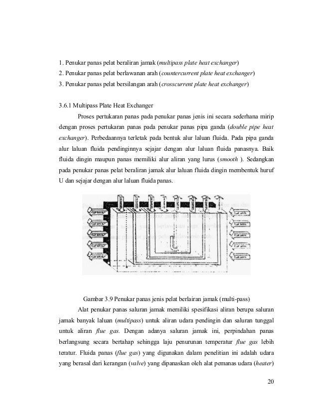 1. Penukar panas pelat beraliran jamak (multipass plate heat exchanger) 2. Penukar panas pelat berlawanan arah (countercur...