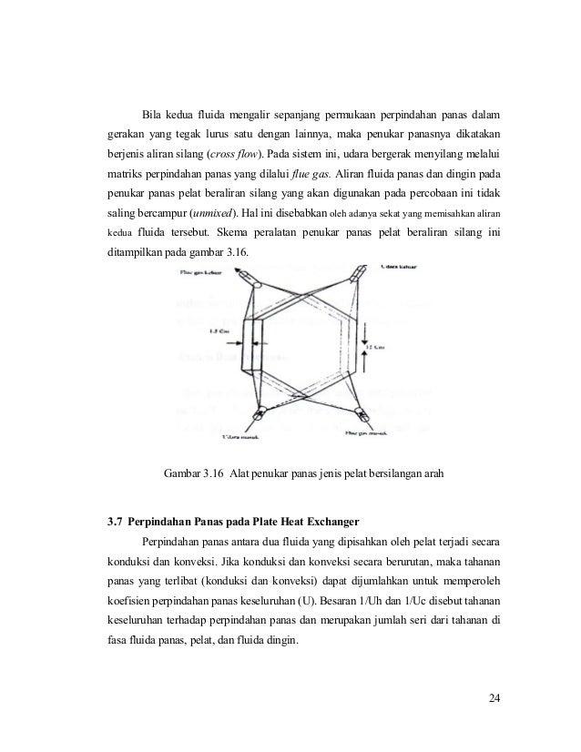 Bila kedua fluida mengalir sepanjang permukaan perpindahan panas dalam gerakan yang tegak lurus satu dengan lainnya, maka ...