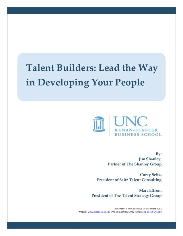 Talent Builders: Lead the Wayin Developing Your People                                                               By:  ...