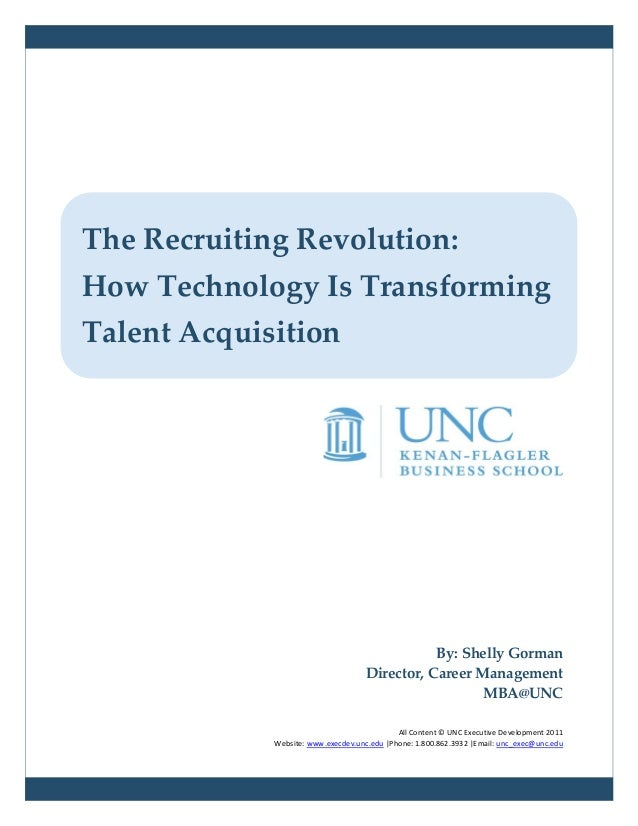 The Recruiting Revolution:How Technology Is TransformingTalent Acquisition                                                ...