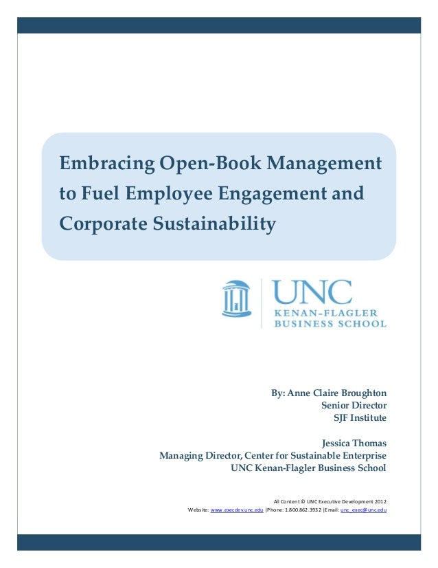 Embracing Open–Book Management to Fuel Employee Engagement
