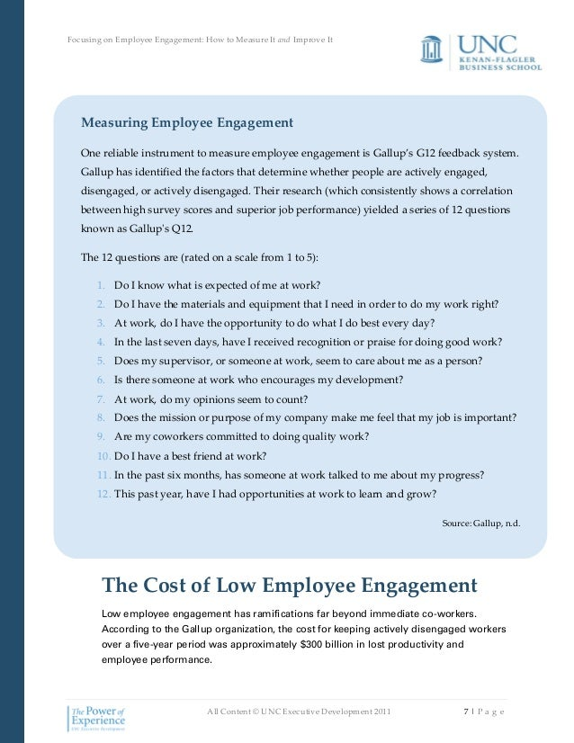 how to measure employee engagement pdf
