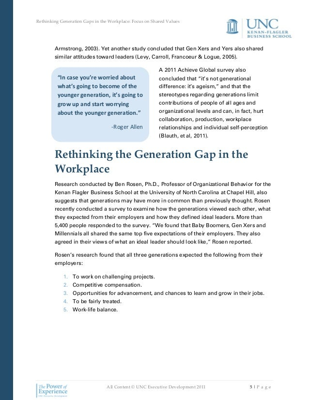 generational differences in the work place essay What are the benefits of generational differences in the workplace by lisa bigelow.