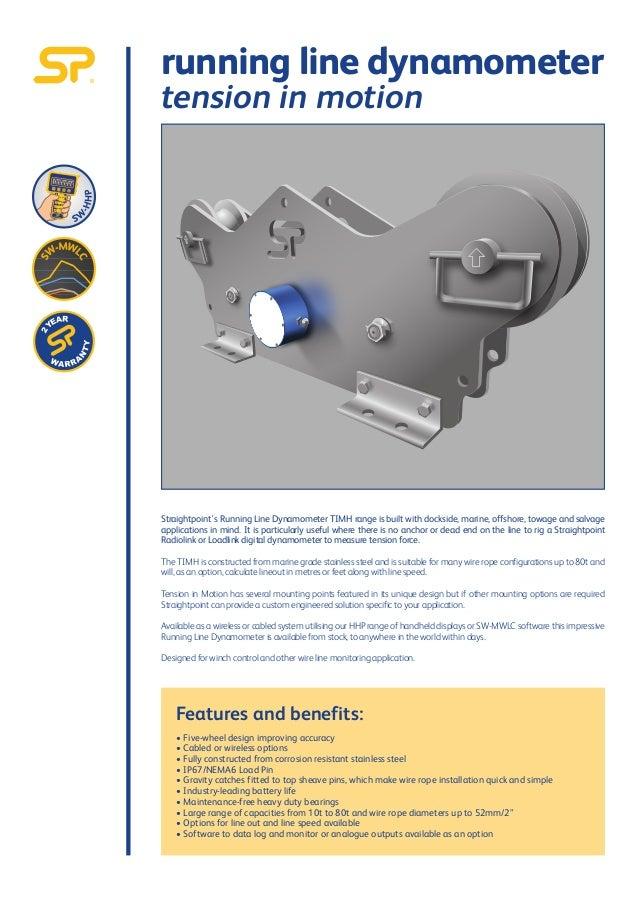 Running Line Wire Rope monitors - dynamometer / tensiometer