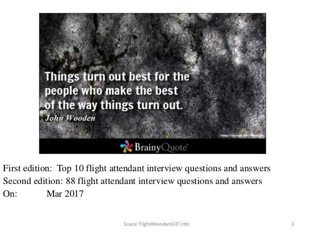 88 1 Flight Attendant Interview Questions U0026 Answers FREE EBOOK: 2.