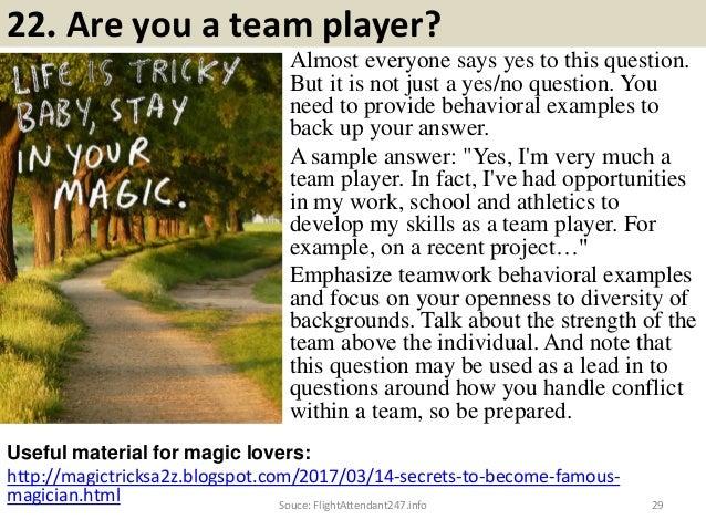 28souce flightattendant247info 29 22 are you a team player - Are You A Tram Player Ability To Work In A Team