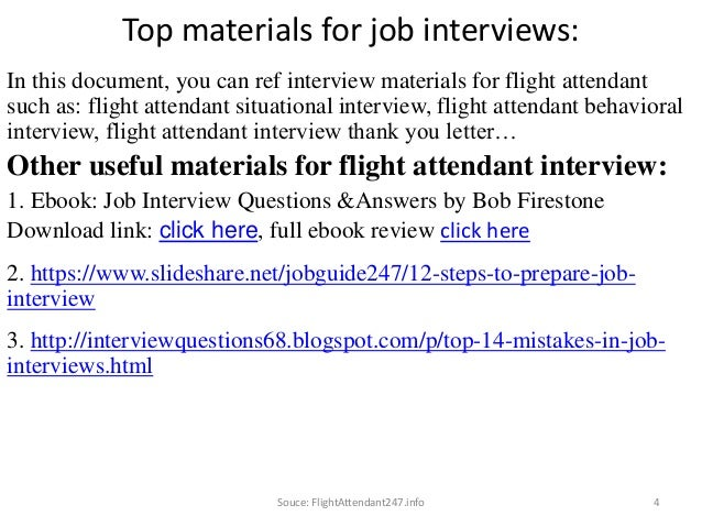 ... 4. Top Materials For Job Interviews: ...