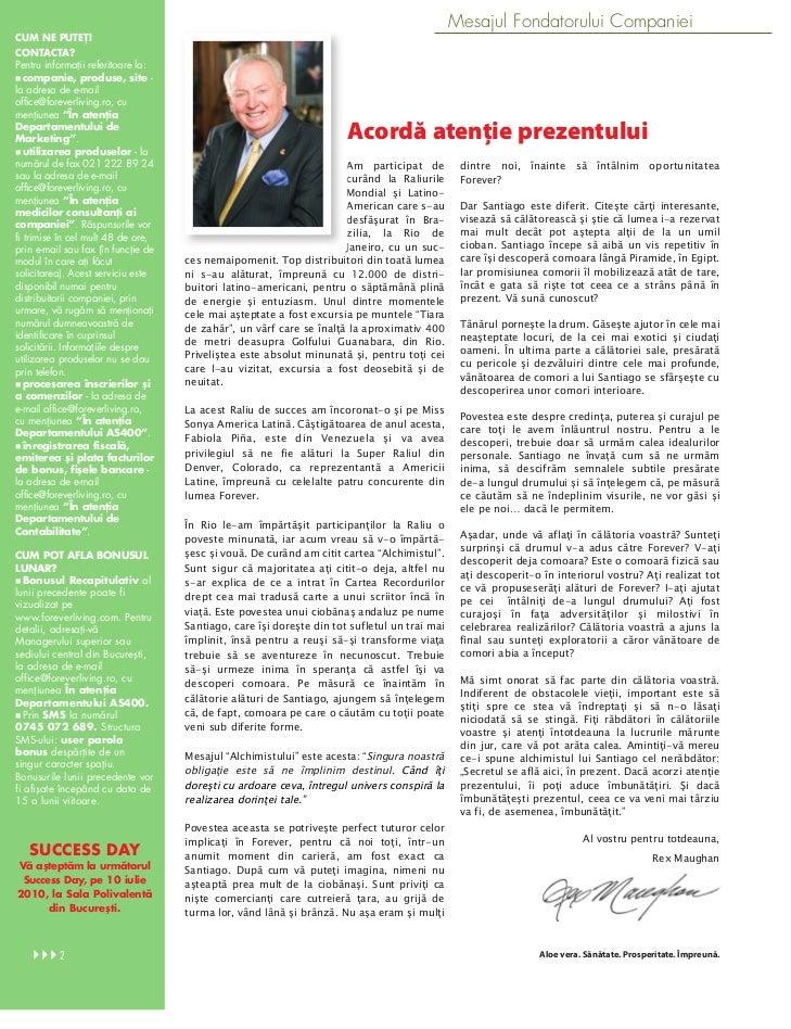 Revista Forever Iunie Slide 2