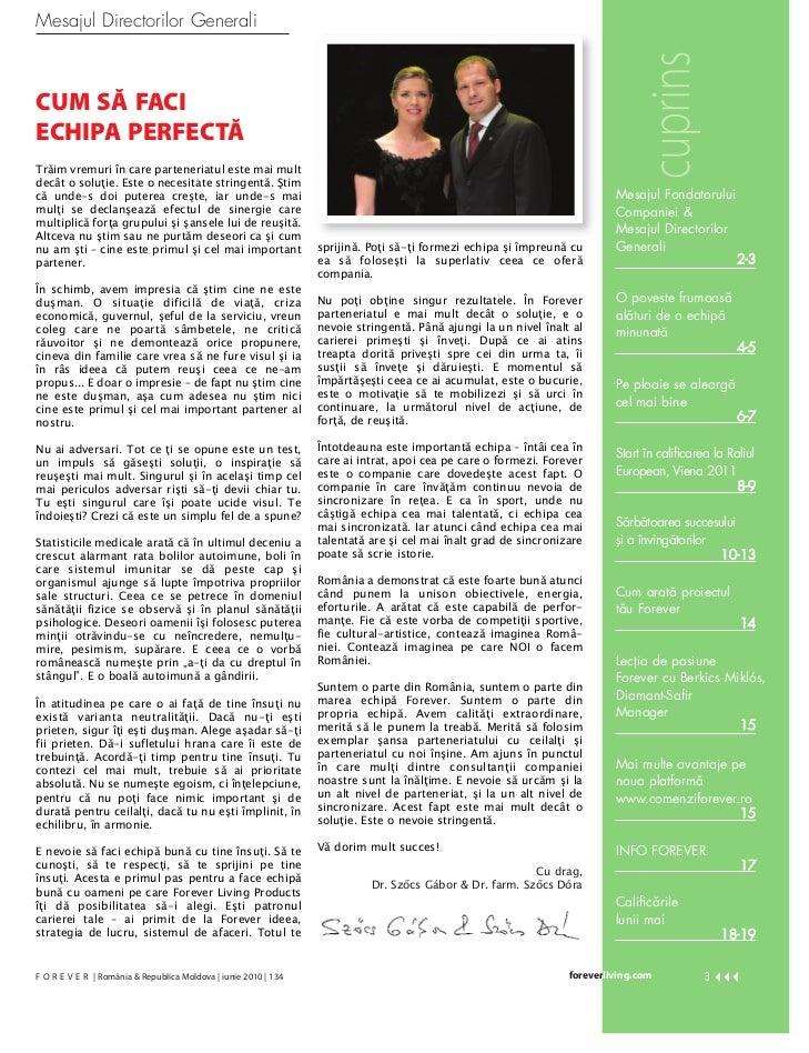Revista Forever Iunie Slide 3