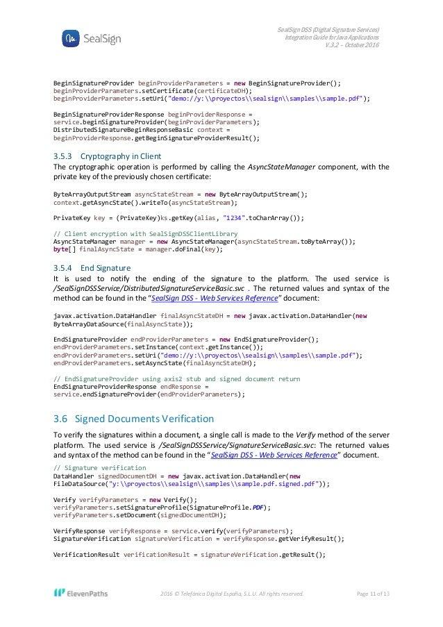SealSign DSS Integration Guide for Java Applications