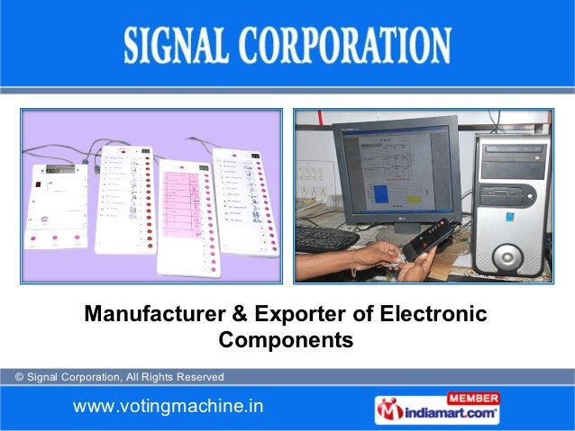 Manufacturer & Exporter of Electronic                        Components© Signal Corporation, All Rights Reserved          ...