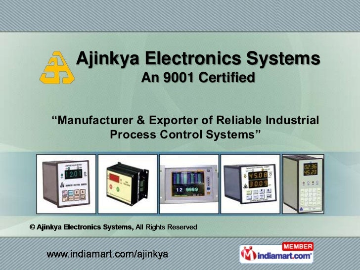 """Ajinkya Electronics Systems               An 9001 Certified""""Manufacturer & Exporter of Reliable Industrial         Process..."""
