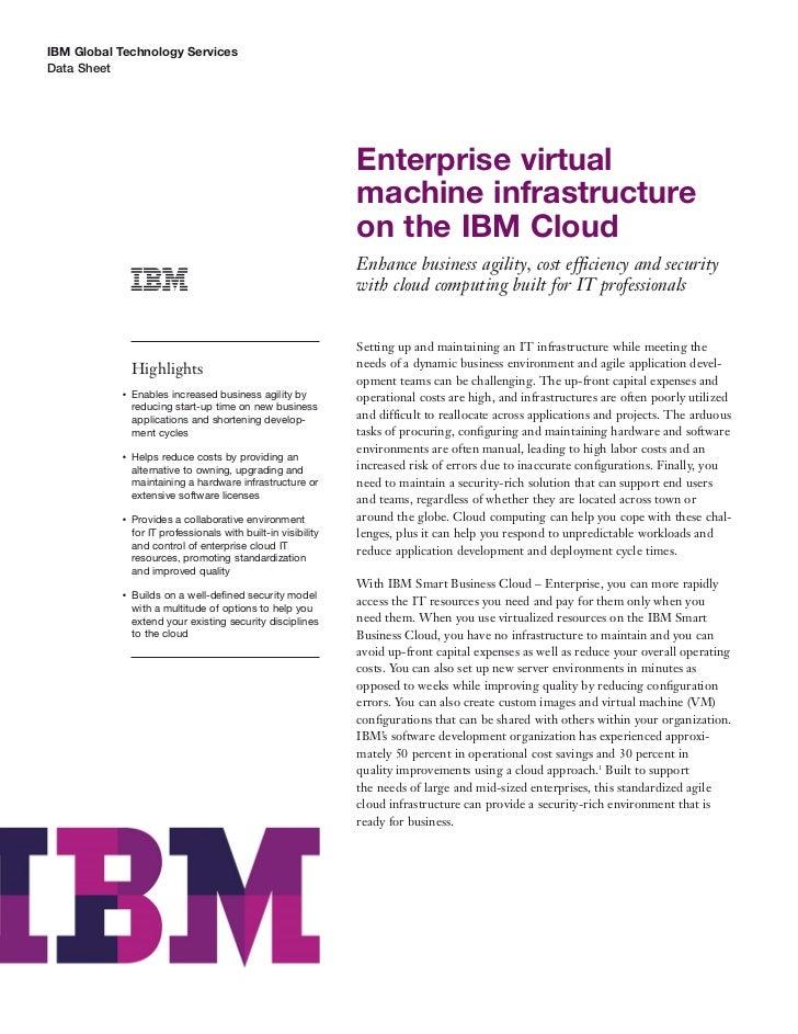 IBM Global Technology ServicesData Sheet                                                               Enterprise virtual ...