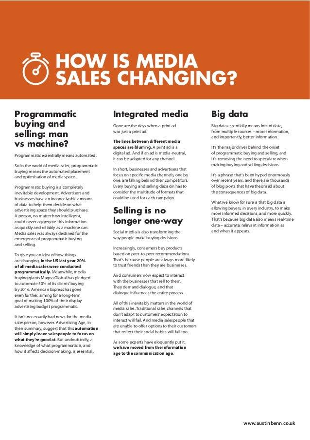 Austin Benn - Changing face of Media Sales whitepaper Slide 3