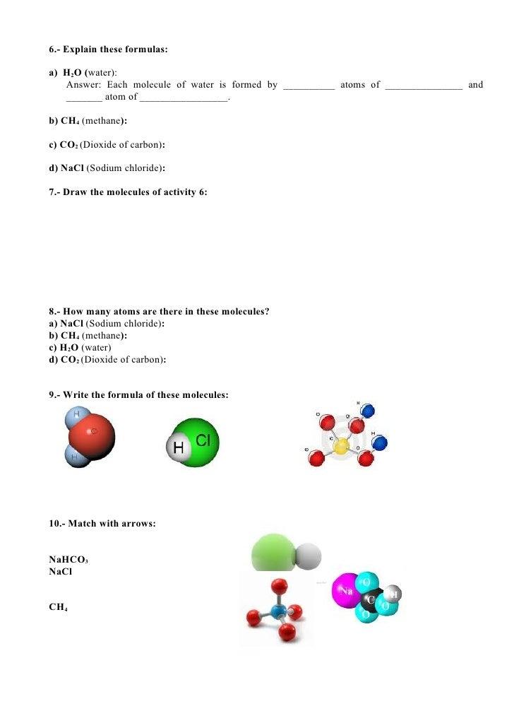 UNIT 04.- STATES OF MATTER (Worksheet)