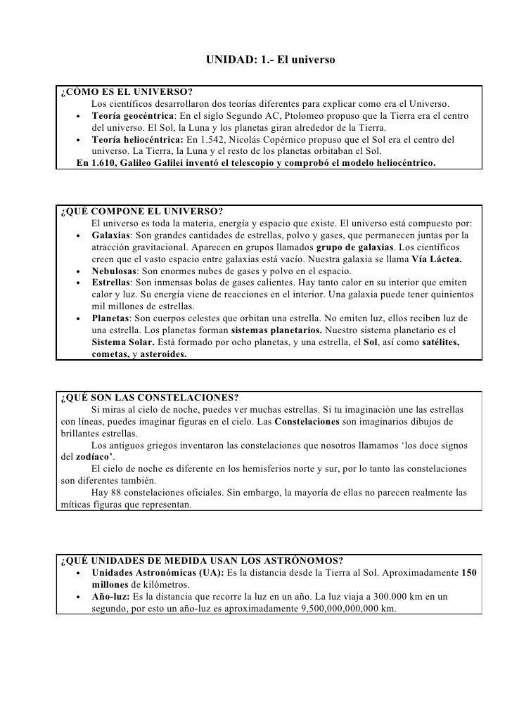 UNIT 01 The universe worksheet – Por and Para Worksheet