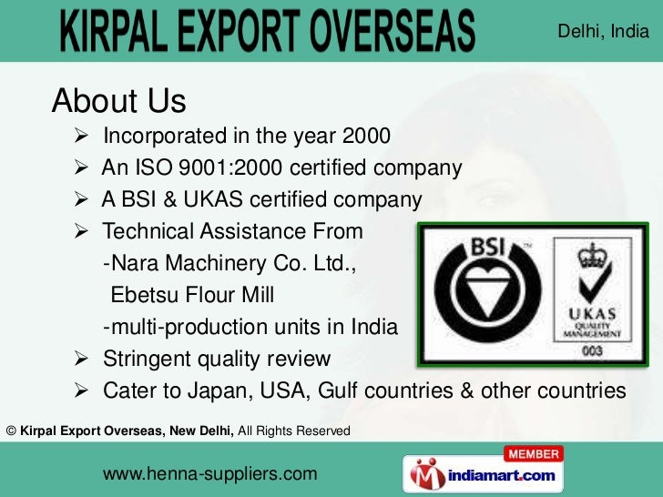Kirpal Export Overseas  New Delhi India Slide 2