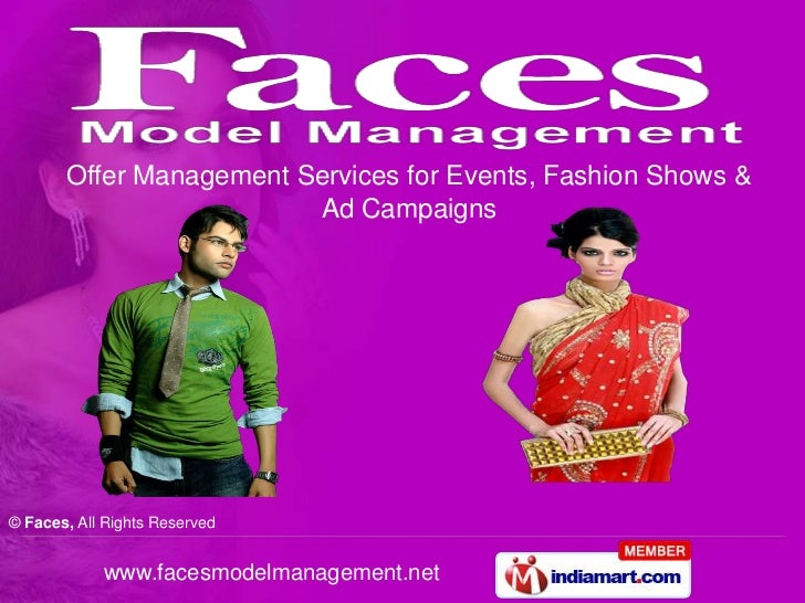 Offer Management Services for Events, Fashion Shows & Ad Campaigns<br />