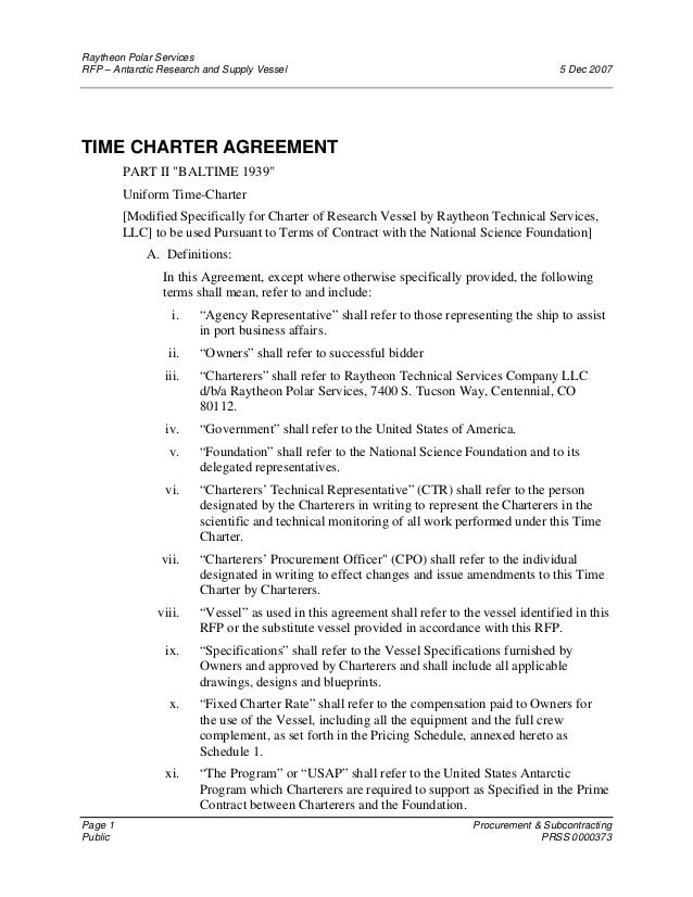 135775981 Time Charter Agreement