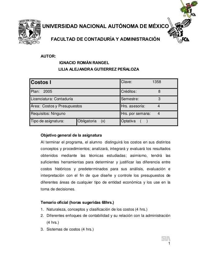 UNIVERSIDAD NACIONAL AUTÓNOMA DE MÉXICO           FACULTAD DE CONTADURÍA Y ADMINISTRACIÓN     AUTOR:                    IG...