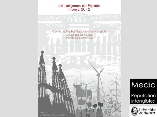 Informe 2012 sobre la imagen exterior de España      Análisis de contenidos de imágenes